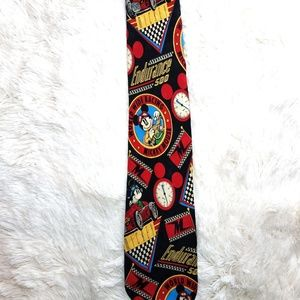 Mickey mouse World Wide Racing Vintage Necktie '90